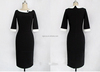 Middle sleeve cotton/spandex old-women-sex fashion dress elegant