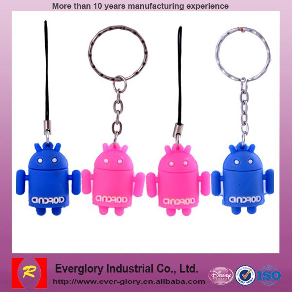 Factory price promotional gift keychain, custom mad PVC keychain