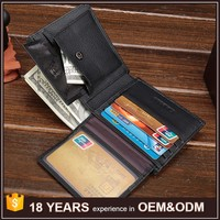 Top Grain Real Leather Custom Men Wallets Brand