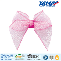 Good shape quality satin ribbons organza ribbon bow bulk hair accessories