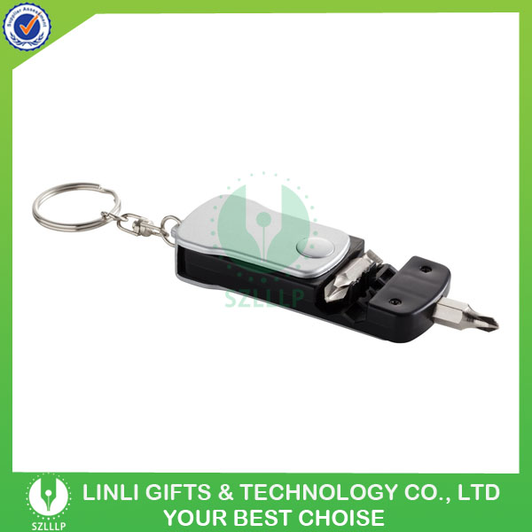 Multi Functional Mini LED Keychain with Tool