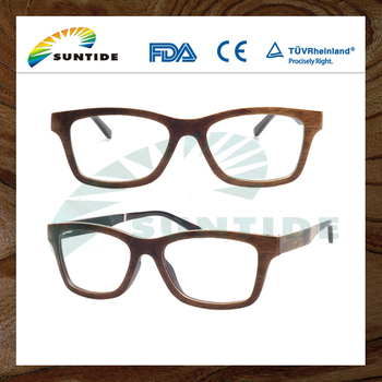 China Wholesale Customized classical optical glasses frame wood bamboo made 2016