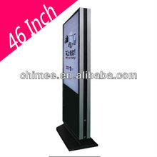 46 Inch indoor Advertising Player Double Sided LCD/LED Kisok Advertising Digital Signage