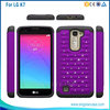 PC+Silicone Dual Layer Hybrid Case For LG K7/M1 Rhinestone Back Cover