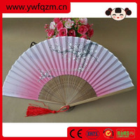 High Quality Silk Fabric Bamboo Hand Fan