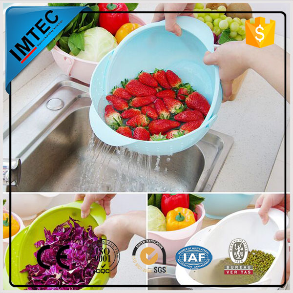 IMTEC 2016 wash fruit vegetable ball shape plastic container