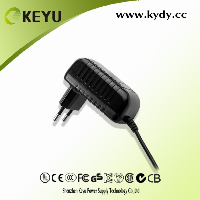 12V 1A 1000mA power adapter with US EU CK UK plug DC output universal adapter