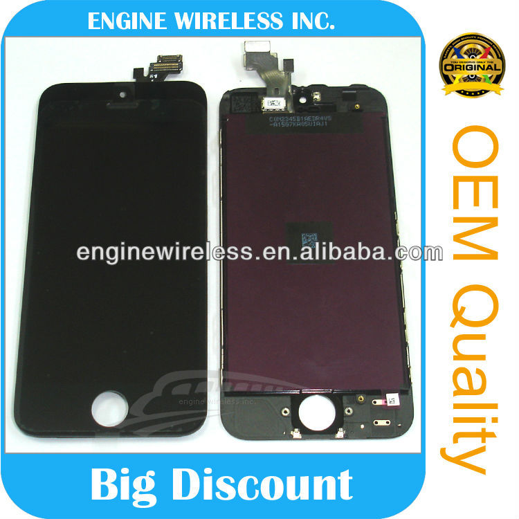china touch screen mobile phones spare parts for iphone 5 lcd aaa