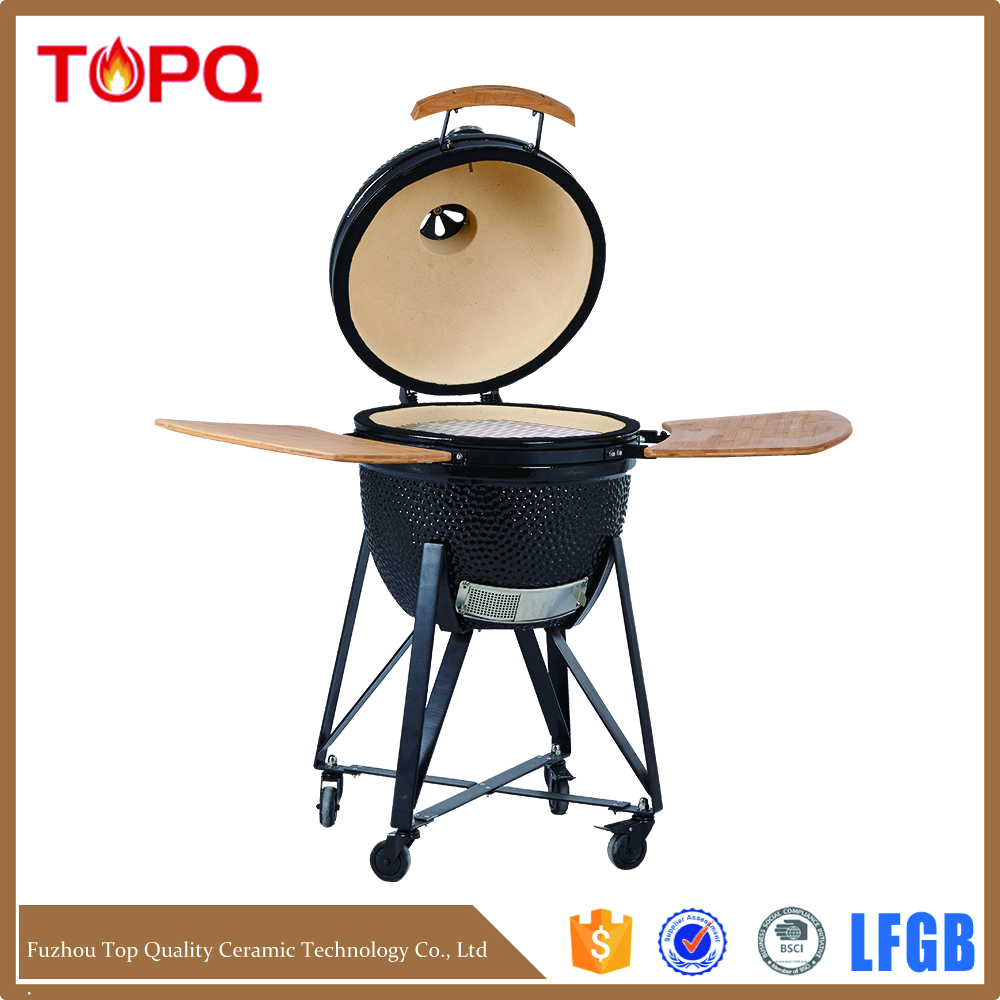 Charcoal Solar Barbecue Ceramic kamado Smoker bbq grill