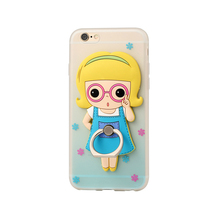 2017 Lovely phone case with cartoon character holder for iphone6 OEM