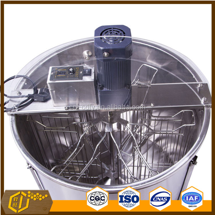6 frames stainless steel honey extractor by electric