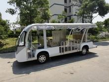 Electric shuttle bus/electric vehicle, 14 seats, deliver passengers, CE certificate,EG6158K,cheap, electric shuttle bus EG6158K