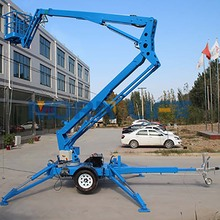 Morn Brand 12m small boom lifts Telescopic trailer articulating self-propelled cherry picker