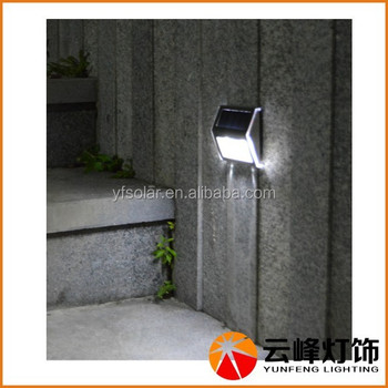 Wholesale high lumen outdoor 2 LED stainless steel solar stair ...