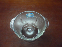 meat grinder replacement part glass bowl 1.0L with hole