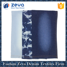 Foshan manufacturer 3/1 right hand twill woven cotton polyester fabric denim