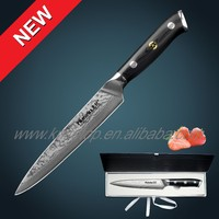 "67 layers Japanese VG10 Damascus steel 8"" kitchen chef knife with forged G10 handle knife knifes"