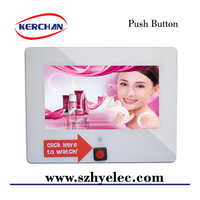 Push Button 7 Inch Battery Operated LCD vedio player