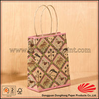 Newest design nice mini kraft paper gift bag for kid/children hot selling