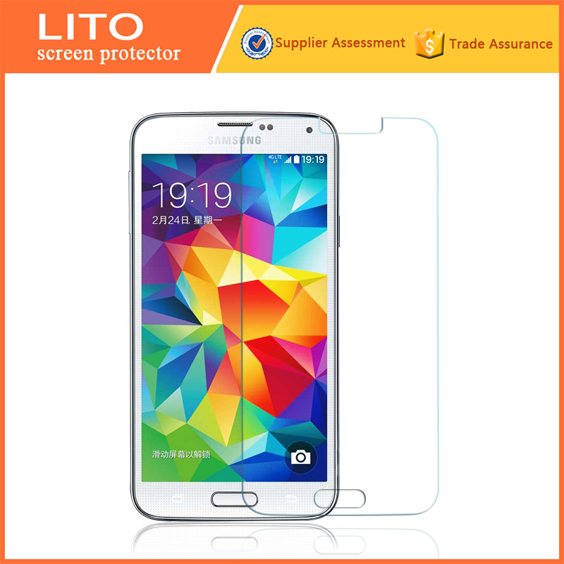 Anti shock high clear for Samsung i9000 tempered glass screen protector