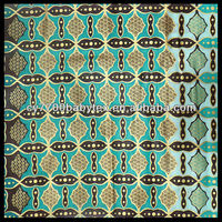 Green Golden Powder Indonesian Bali 100% Cotton Batik Fabric