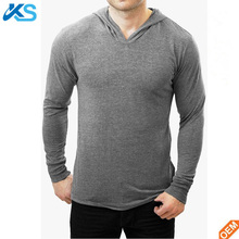 OEM wholesale cotton polyester blend blank lightweight Pullover hoodie