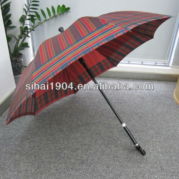 "23""X8K Auto open straight old man stick multi-purpose umbrella"