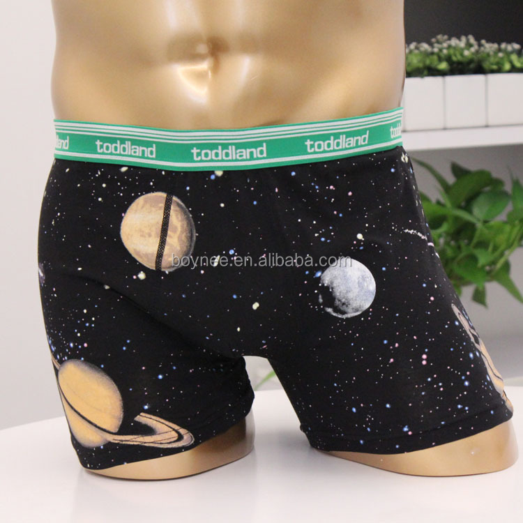 High Quality Underwear Fashion Men's Cotton Spandex Rubber Printing Custom Boxer For Him