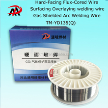 Hard Facing Flux Cored Wire TM-YD135(Q), Surfacing Overlaying Welding Wire, Gas shielded Arc welding wire