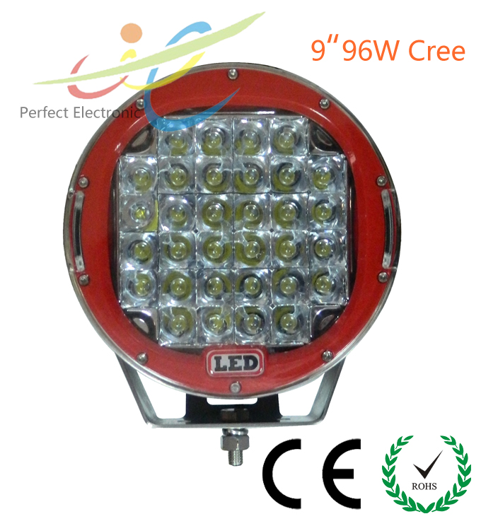 "Jeep wrangler 9"" 96W High power Cree LED driving light work light 4wd offroad 4x4 truck camp"