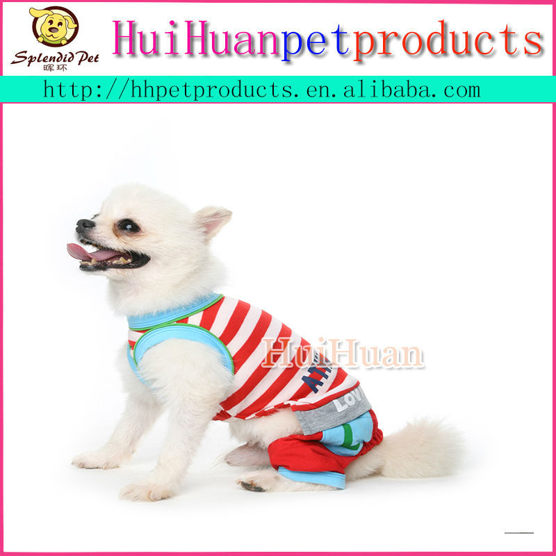 Good quality lovely stripe pet dog clothing