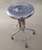 Classic Design High Quality Steel Lab Chair, Stainless Steel Laboratory Stools with Footrest