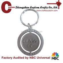 Engraved logo spinning key chain
