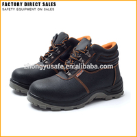 High Cut Security Industrial Steel Toe Work Boots, Light Weight Acid Resistant Safety Shoes, Cow Split Leather Shoes for Men