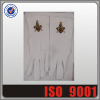 Wholesales Masonic Gloves, Custom Embroidered Patches