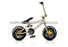 high end 10inch mini stunt bike with 3pieces crank set