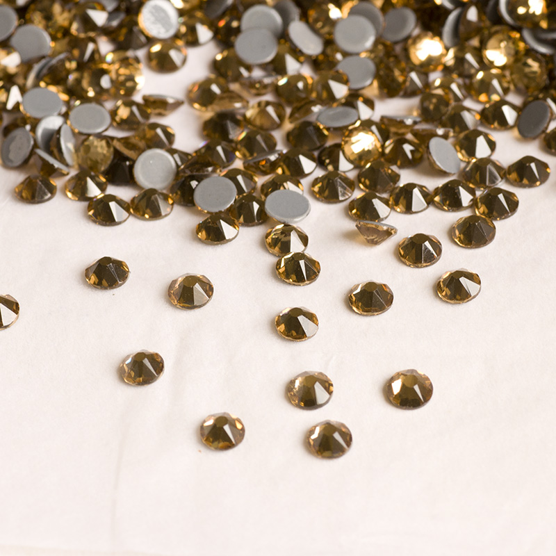 Wholesale Hotfix Cristal Beads 10ss Crystal Hotfix Rhinestones Light Colorado Topaz