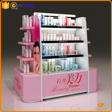 customized design lighting makeup case with stand with lights