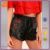China Product Woman Hot Sale New Design Eembroidery Black Satin Shorts Wholesale