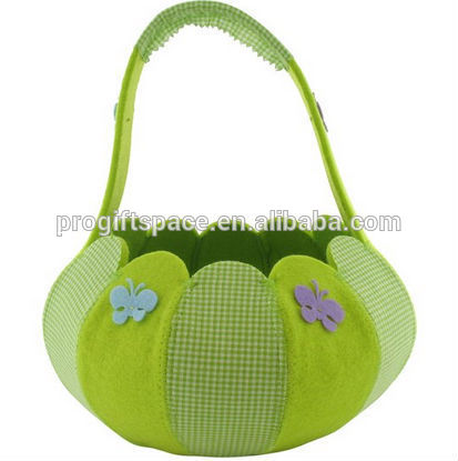 hot sale hight quality new product promotion holiday gift handicraft felt decorative easter wicker basket for easter