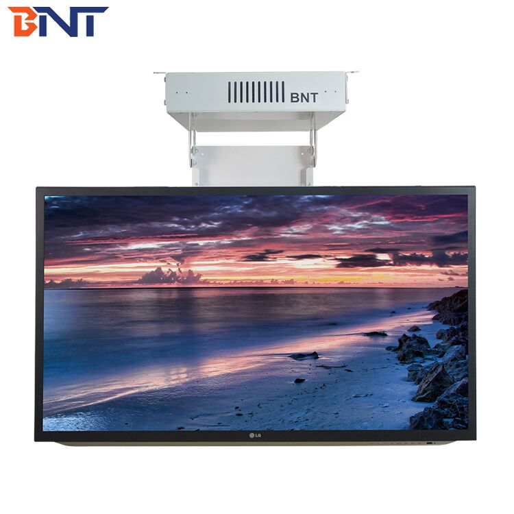 BNT New arrival motorized drop down ceiling tv lift with remote control