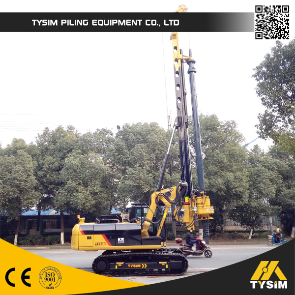 Well hydraulic bore pile machine, Drilling depth 28m foundation pile, KR80A rotary drilling rig for sale