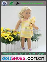 Yellow strip pattern 18 inch doll clothing toy clothes american girl doll clothes