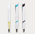 white barrel simple design with customized logo ball pen for promotion