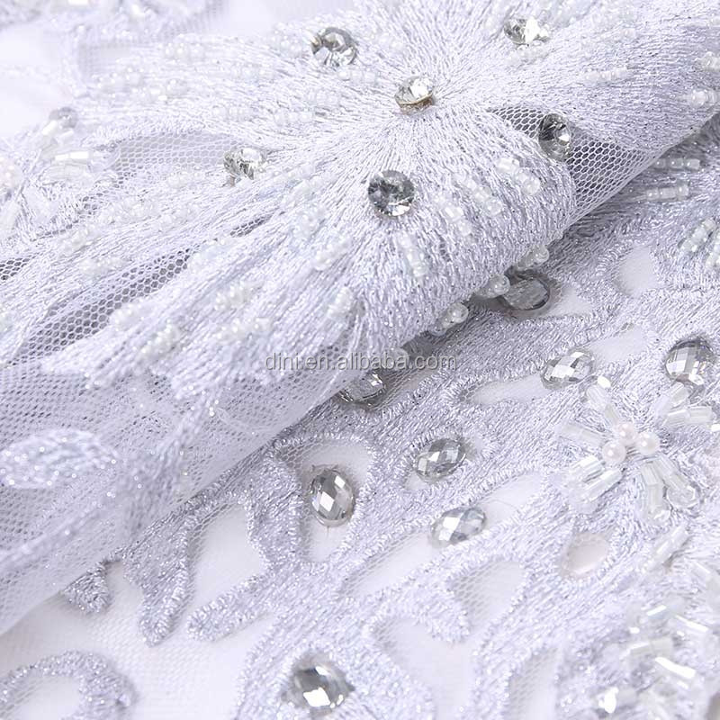 handmade beaded dry lace fabric, 100% cotton swiss voile lace fabric, german lace curtains
