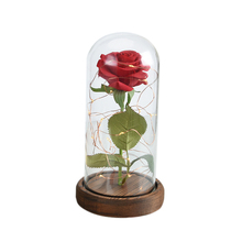Nuovi Prodotti 2018 Bellezza Red Rose All'ingrosso Conservato Eterna Rosa Rossa con Luci A Led in Vetro Cupola Aliexpress UK