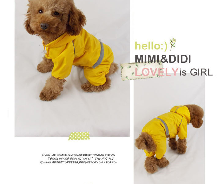 Big Dogs Reflective Rain Coat Dogs Clothing Large Dogs Pet Accessories Wholesale