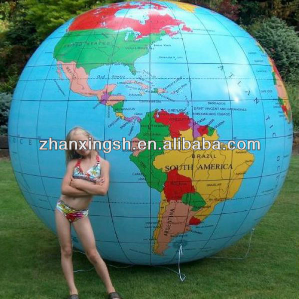 Cheap Price Colorful PVC Toys Inflatable Earth Globe Beach Ball