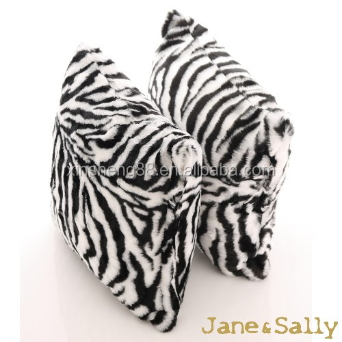 2017 new fashion zebra-stripe pile cushion covering pillow
