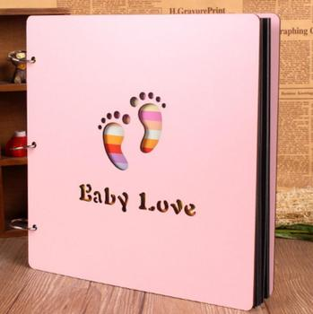 Fancy newest design pink baby photo album